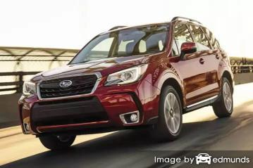 Insurance rates Subaru Forester in Kansas City